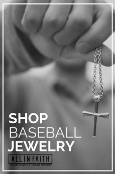 The 2.0 features a stylized bail made to resemble a baseball at the top of the cross. This pendant is designed to combine two things, faith and baseball. The cross itself is formed from the union of three crossed baseball bats. These three bats symbolize God the Father, God the Son, and God the Holy Spirit. This pendant allows baseball players and fans alike to showcase these beliefs on and off the field. #baseball #baseballjewelry #sportsjewelry #jewelry