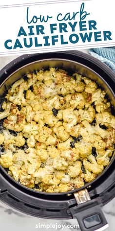Air Fryer Cauliflower is a delicious low carb side dish recipe your family will fall in love with. With only 5 minutes hands on time, this will be a recipe you will come back to over and over. Low Carb Side Dishes, Side Dish Recipes, Main Dishes, Phillips Air Fryer, Instant Pot Veggies, Power Air Fryer Recipes, Cauliflower Cheese, Cheese Bites, Dinner