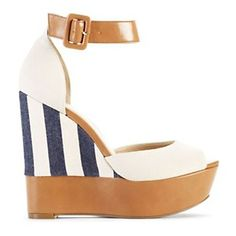 """Jessica Simpson """"Cocoa"""" Ankle-Strap Platform Wedge at HSN.com."""