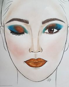 Warm and cold tones of colors for a makeup that reminds to the Orient, the Arabia and the Sahara. The palette @juviasplace makes the rest. Glossy and shimmering lips in the #colours of earth and desert. #facechart #makeup #personalmakeup #makeupartist #face #look #workinprog #beauty #cosmetics #facechartmakeup #makeupersonalizzati #drawings #artface #artwork #cosmetics #eyeshadow #blush #eyes #juviasplace #desert #orient #arabiclook #desertcolours