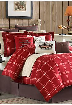 Woolrich Scarlet Windowpane Bedding Collection - Online Only