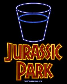 Gallery of Movies as Neon Signs Jurassic Park (gotta check this site - movie posters as neon signs!)Jurassic Park (gotta check this site - movie posters as neon signs! Jurassic Park Series, Jurassic Park 1993, Jurassic Park World, Michael Crichton, Pulp Fiction, Science Fiction, What If Movie, Thriller, Jurrassic Park