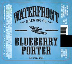 mybeerbuzz.com - Bringing Good Beers & Good People Together...: Waterfront Brewing - Blueberry Porter