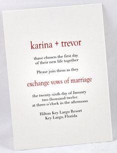Simple and Sweet Wedding Invitation