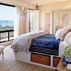 Coastal master Beach Bedroom
