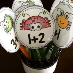 Buggy addition fact sticks. A fun way to practice math facts.