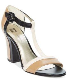 Anne Klein Cristyn T-Strap Sandals | macys.com