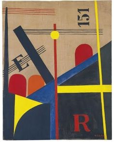 Moholy-Nagy: His vision of non-representational art consisting of pure visual fundamentals—colour, texture, light, and equilibrium of forms—was immensely influential in both the fine and applied arts in the century. Large Painting, Oil Painting Abstract, Laszlo Moholy Nagy, Bauhaus Art, Herbert Bayer, Retro Advertising, Victor Vasarely, Art Database, Poster Vintage