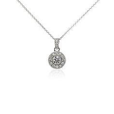 Diamond Necklaces & Diamond Pendants in Platinum & Gold | Blue Nile