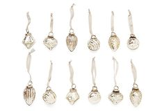 Silver Ornaments in Pouch, Asst. of 12 on OneKingsLane.com
