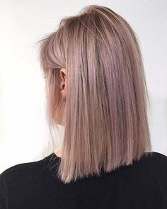 42 Trendy Rose Gold Blonde Hair Color Ideas - rose gold hair highlights, rose go. - - 42 Trendy Rose Gold Blonde Hair Color Ideas – rose gold hair highlights, rose go… - Bob Haircut For Fine Hair, Bob Hairstyles For Fine Hair, Lob Hairstyle, Hairstyle Ideas, Fun Hairstyles, Long Bob Fine Hair, Fringe Hairstyles, Beautiful Hairstyles, Rose Pink Hair