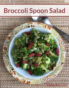 A new way to enjoy broccoli--chopped up in this salad you can eat with a spoon! It's fragrant, lightly spiced and free of sugar and nuts. #glutenfree #grainfree #dairyfree @rickiheller Dairy Free Recipes, Healthy Recipes, High Glycemic Foods, Anti Candida Diet, Fast Dinner Recipes, Sugar Free Diet, Green Veggies, Grain Free, Nut Free