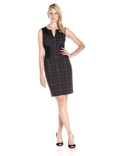 NYDJ Women's Aubrey Printed Plaid Sheath Dress ** You can get additional details at the image link.