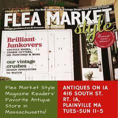 Antiques on is Flea Market Style's Readers' Favorite Shop in Massachusetts. Flea Market Style, Furniture For You, Fleas, Massachusetts, Vintage Shops, Unique Gifts, Marketing, Antiques, Books