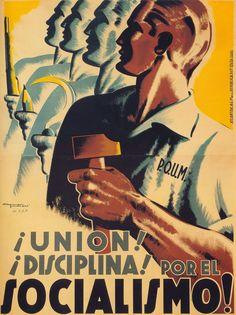 ILUSTRACIONES. ...Por el socialismo! (1936). Carles Fontseré. (Carteles de la guerra civil española)