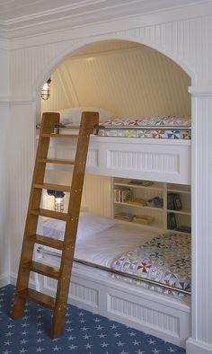 kids bedroom ideas #kidsbedroom dorm room built in light and bookshelf.