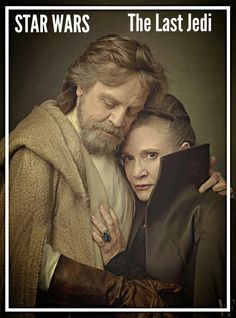 Luke Skywalker and Leia Organa as Mark Hamill and Carrie Fisher