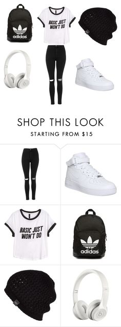 """Untitled #38"" by dianabarrera-1 on Polyvore featuring Topshop, NIKE, H&M, adidas Originals, UGG Australia, Beats by Dr. Dre, women's clothing, women, female and woman"