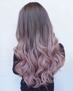 Pink and grey hair