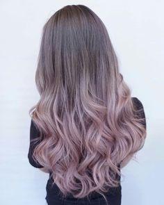 Pink and grey hair