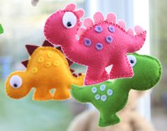 Dinosaur Mobile - Childrens Mobile - Choose Your Own Colours - MADE TO ORDER