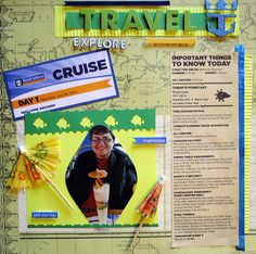 In honor of our Son's graduation we took him and his best friend off to Bermuda on a 5 day Cruise. Aboard Ship I purchased this 12 x 12 page which came in a set. I attended a class onboard that allowed us to complete the layout for pages even though  Fun crafts and scrapbooking photos forsale