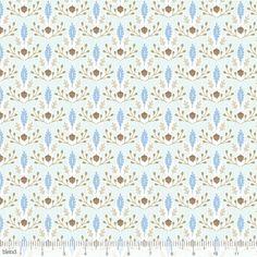 113.108.05.2 Little Acorn Blue by designer Ana Davis