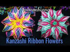 DIY || Cara Membuat Kanzashi Flower 02  -  Tutorial Bros Simple by Lista Tsurayya - YouTube