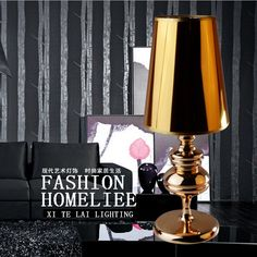 69.50$  Watch now - http://alix0u.shopchina.info/go.php?t=32309071804 - new modern brief  table lamp golden PVC lampshade Iron base led bedside lamp for  living room bed room led E27 LAMP1716  #buyonlinewebsite