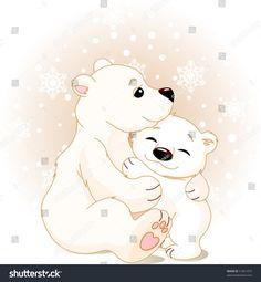 stock-vector-winter-day-snowing-mother-bear-hugging-her-baby-41851879.jpg 1.479×1.600 píxeles