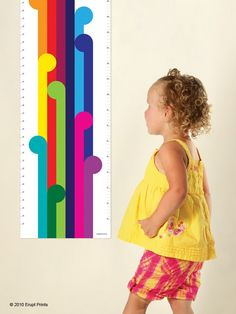 Rainbow Height Chart for the modern kid by Erupt by EruptPrints, $27.50