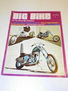 """VTG """"BIG BIKE"""" (JUNE 1970) CHOPPER MOTORCYCLE MAGAZINE: CUSTOM BIKE HOG CYCLE"""