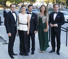 La Familia Real sueca al completo celebra los 40 años de reinado de Carlos Gustavo de Suecia