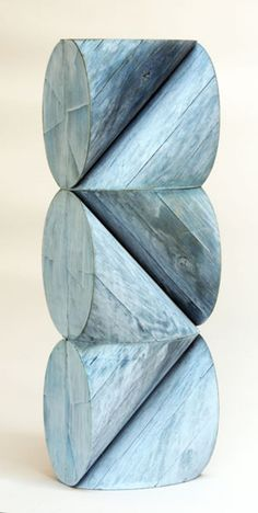 Peter Millett; Painted Cedar 'Blue Chord', 2013.