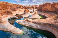 Reflection Canyon, Glen Canyon National Recreation Area. Found near Lake Powell, on the border between Utah and Arizona, Reflection Canyon is an astonishing natural wonder. Popularized by photographers, the canyon previously didn't dominate the travel guides. Not surprising since the spot can only be accessed by boat or by a strenuous 55 mi road trip. In 1977, we visited Lake Powell and rented a boat but didn't visit this area.
