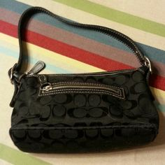 Purse Small Black Coach purse. Good condition.  Use Coach Bags Mini Bags