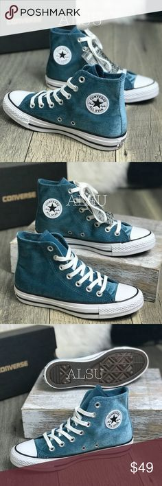 finest selection 730ed d5459 NWT Converse Ctas HI Velvet Teal W AUTHENTIC Brand new with box. Price is  firm. Vulcanized RubberConverse ShoesShoes ...
