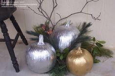 Christmas pumpkins