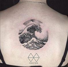Hokusai Wave Tattoo Design by Won