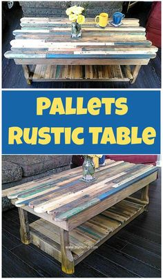 We are presenting here 10 cheap wood pallet ideas to upgrade  your home. We asure you that these cheap wood pallet ideas will prove very benificial for you.Pallets Rustic Table