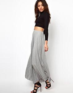 Image 1 ofRiver Island Pleated Maxi Skirt