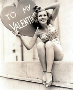 Joyce Mathews, 1939, serving vintage Valentine pinupness.