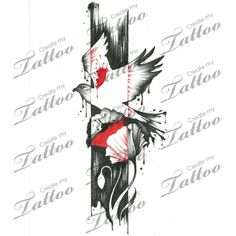 Marketplace Tattoo Bird, poppy, and paint #19215 | CreateMyTattoo.com