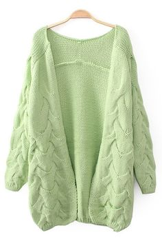 Warm and Cozy! Mint Green Thicken Long Cardigan Sweater #Mint #Mint_Green #Sweater #Fall #Fashion #Cardigan #Trends