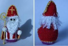 Kneutsel: Oh, kom er eens kijken... Free Crochet, Crochet Hats, Santa Sleigh, Free Pattern, Christmas Ornaments, Holiday Decor, Diy, Crochet Christmas, Amigurumi