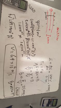 Thursday: Here's another picture of worksheet 3. In this picture, we calculated the velocity of the electron due to the magnetic field. It was a challenge to manipulating the equations to be able to get the problem. We used some equations from PHY 121 to get the velocity.