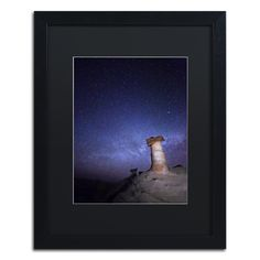 Starry Night in Arizona I by Moises Levy Framed Photographic Print in Black