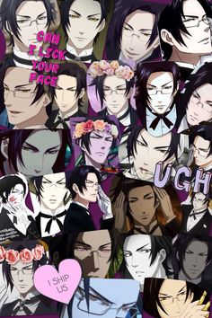 A collage of claude faustus from black butler ^w^