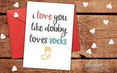 Mum I Love You More Than Dobby Loves Socks Handmade Plaque
