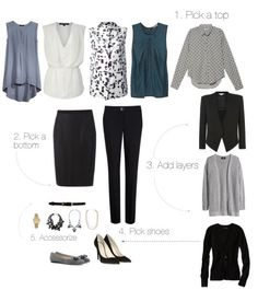 Building a Work Wardrobe for Women. Great basic pieces for all teachers to have in their closets.